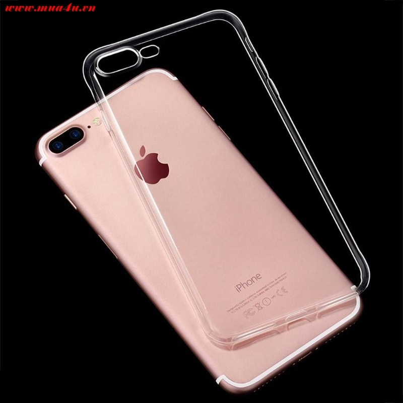 Ốp điện thoại iphone 7, 7plus silicone trong suốt