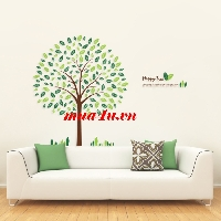 Decal dán tường Happy tree
